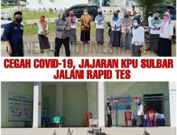 Cegah Covid-19, Jajaran KPU Sulbar Jalani Rapid Tes