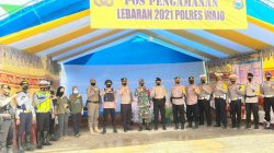 Pantau Posko Penyekatan Mudik, Pejabat Polres Wajo Minta Petugas Utamakan Sikap Humanis