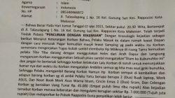 Seorang Mahasiswi Unismuh, Mengalami Pencurian dengan Kekerasan di Talasalapang 1, Makassar