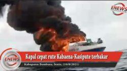 Kapal Cepat Rute Kabaena-Kasipute Terbakar