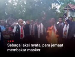 Viral!! Pendeta dan Warga Papua Membakar Masker Lantaran Tidak Percaya Covid-19